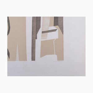 Light Wood Lithographie von André Beaudin, 1971