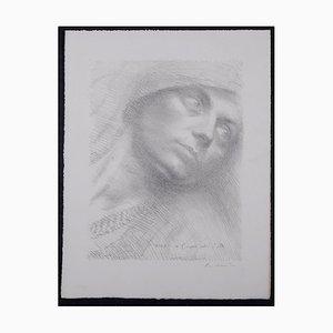 Portrait Lithographie von Octave Matthey, 1930
