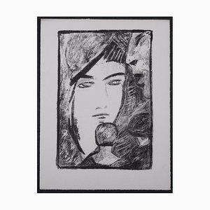 Portrait Lithograph by Alexandre Cingria, 1930