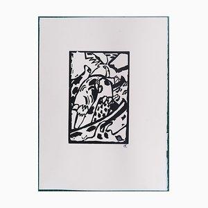 Improvisation 7 Woodcut Engraving after Wassily Kandinsky, 1975