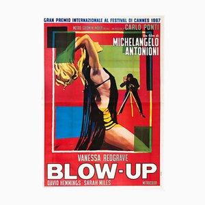 Póster italiano de la película 4 Foglio Blow-Up de Ercole Brini, 1967