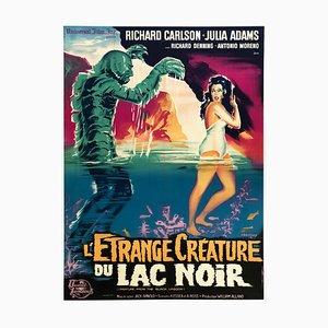 Kreatur aus der Schwarzen Lagune R1962 Französisches Filmplakat von Belinsky
