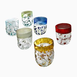 Italienische Vintage Murano Bagnongi Wassergläser von Mar'yana Iskra für Ribes, 2004, 6er Set