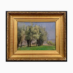 Antike Landschaft Öl auf Leinwand von François Joseph Vernay