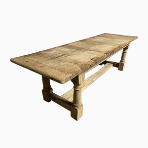French Farmhouse Refectory Dining Table with Long Rustic Top