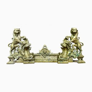 Andirons with Lions, Set of 2