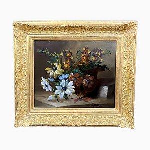 Bodegón de óleo sobre lienzo de Louis François Gautier