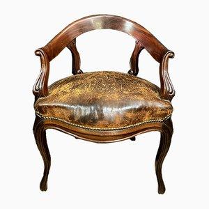 Louis XV Mahogany Office Chair