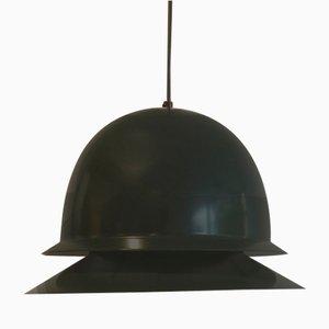 Lámpara de techo verde oscuro de Hans-Agne Jakobsson para Svera, años 70