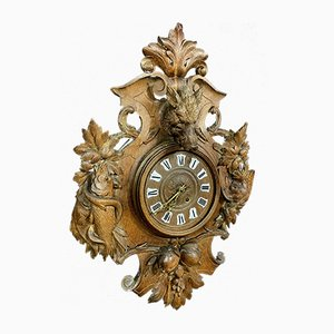 Black Forest Wooden Carved Clock