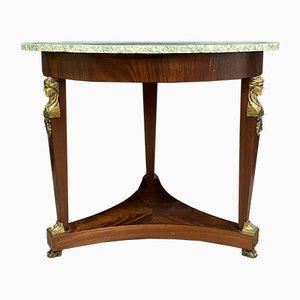 Empire Mahogany & Gilded Bronze Console Table
