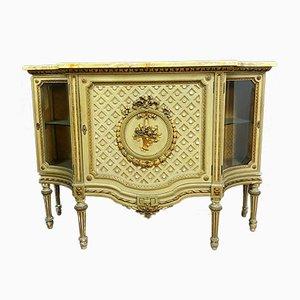 Louis XVI Schrank aus Lackiertem Holz & Gold