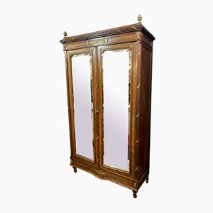 Parisian Louis XV Wardrobe with Wood Marquetry and Ormolu Ornamentation