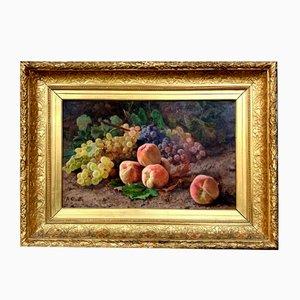 Aceite Still Life grande sobre lienzo de Alexandre Claude, años 20