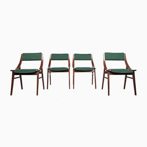 Polish Ski Jumper Dining Chairs from Zamojska Furniture Factory, 1970s, Set of 4