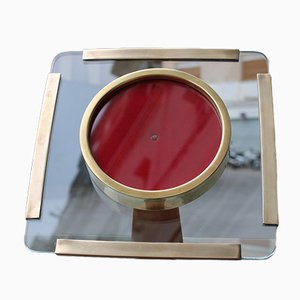 Picture Frame with Thick Glass & Brass, 1970s