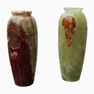 Onyx Vases, 1950s, Set of 2