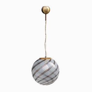 Murano Glass & Brass Ceiling Lamp from VeArt, 1970s