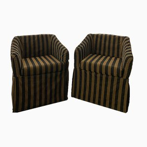 Vintage Club Chairs from Fendi, Set of 2