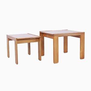 Tavolini ad incastro di Tobia e Afra Scarpa per Cassina, Italia, anni '60, set di 2