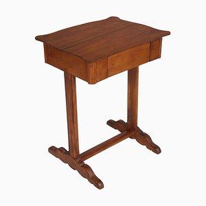19th Century Biedermeier Larch Wood Worktable