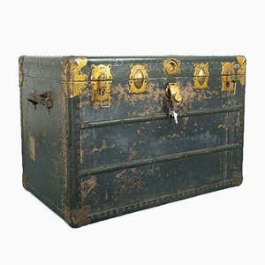 Vintage Metal and Aluminium Trunk, 1940s