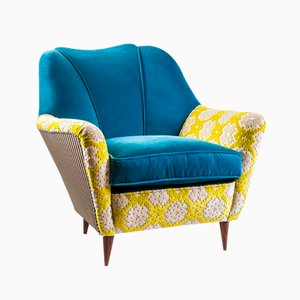 Blue Velvet Armchair by MIA