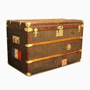 Baúl de viaje vintage de Goyard, años 20