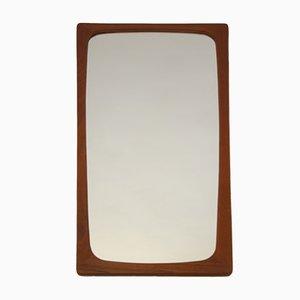 Large Vintage Danish Teak Mirror