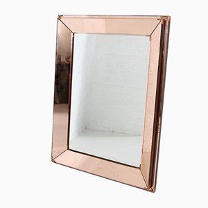 Spiegel mit Glasperlen von Jacques Adnet, 1940er