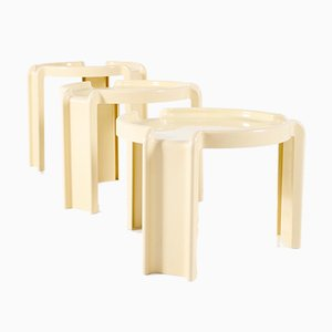 Nesting Tables by Giotto Stoppino for Kartell, 1970s, Set of 3