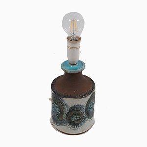 Lámpara de mesa danesa con base de cerámica, años 60
