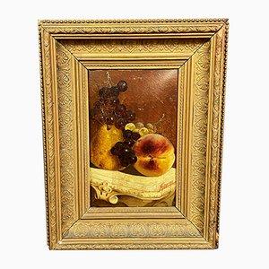 Natura morta con frutta, olio su tela di Giuseppe Marcora