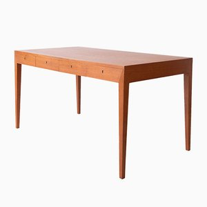 Teak Desk by Severin Hansen for Haslev Møbelsnedkeri, 1960s