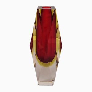 Red Vase by Flavio Poli for Seguso, 1960s