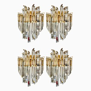Gold Gilt Glass Sconces by Paolo Venini, 1980s, Set of 4