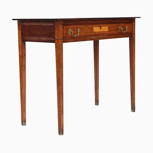 Georgian Inlaid Mahogany Writing Side Table Desk, 1800s