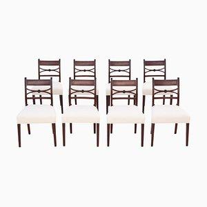 Georgian Mahogany X Back Dining Chairs, 1825, Set of 8