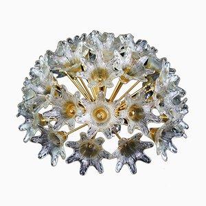 Lampada da soffitto con fiori in vetro di Murano di Paolo Venini per VeArt, anni '60