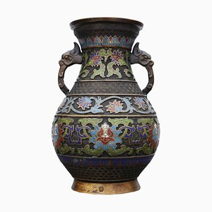 19th Century Chinese Bronze Cloisonne Vase