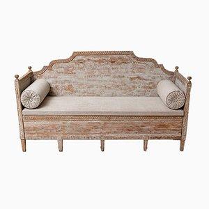 19th-Century Swedish Dry-Scraped Sofa