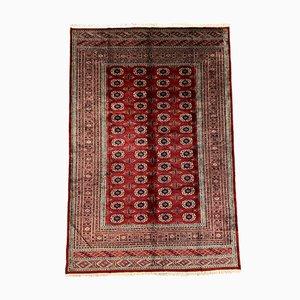 Large Vintage Bokhara Red, Beige & Black Wool Tribal Rug, 1950s