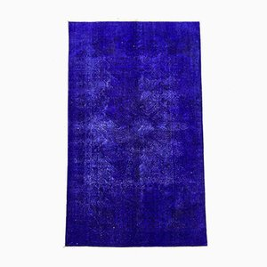 Large Blue & Black Overdyed Turkish Rug