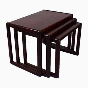 Tavolini a incastro di Preben Schou per MCM, Danimarca, anni '60