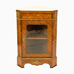French Louis XVI Style Corner Cabinet from Hopilliart
