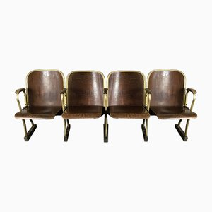 Mid-Century 4-Seat Cinema Chairs, 1950s