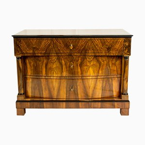 19th Century Biedermeier Walnut Chest of Drawers