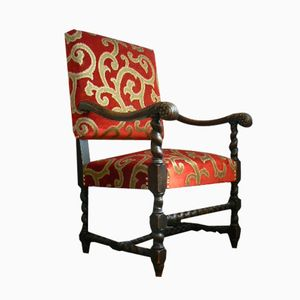 Antique German Oak Baroque Chair
