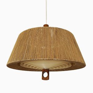 Lámpara colgante Raffia de Temde, años 60
