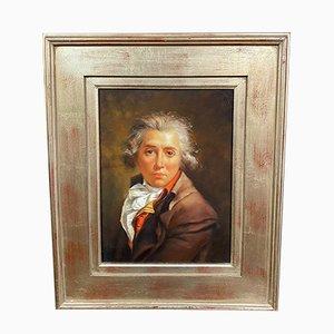 Retrato de un joven aristócrata, óleo sobre lienzo, años 50